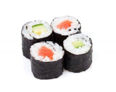Sticker Sushi maki mis au saumon et concombre