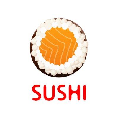 Sticker Sushi, rouleau, blanc