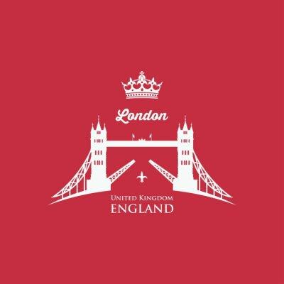 Sticker Symbole de Londres Tower Bridge