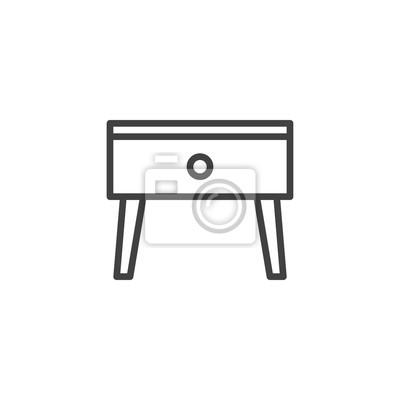 StickerTable de chevet de la chevet table lignesigne de icône vecteur hQCrdsxt