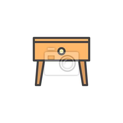 chevet dicône de de rempli chevet de StickerTable table contoursigne IEWHD29eY