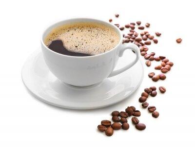 Sticker Tasse de café isolé sur blanc