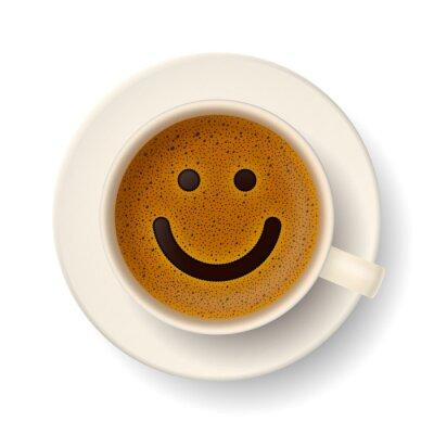 Sticker tasse de café pour la bonne humeur