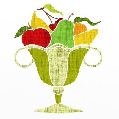Sticker Tasse, fruit
