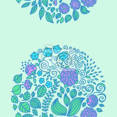 Tatouage éléments vectoriels de griffonnage floral mis en décor de fond.