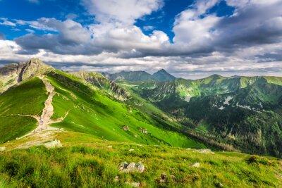 Sticker Tatra, montagnes, pics, ensoleillé, jour