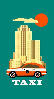 Sticker Taxi de la ville