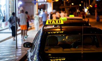 Sticker Taxi, signe, nuit