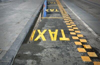 Sticker TAXI - signe sur la route