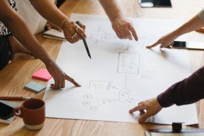 Sticker Team brainstorming a startup business process