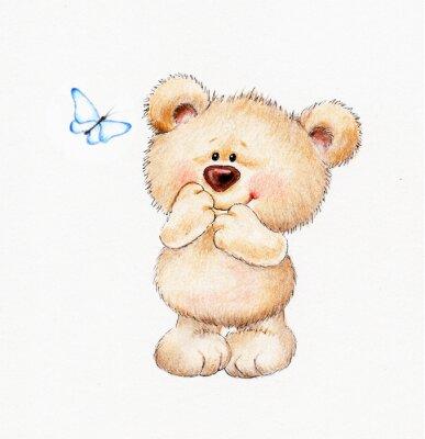Sticker Teddy Bear mignon