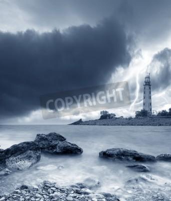 Sticker tempête sur la mer