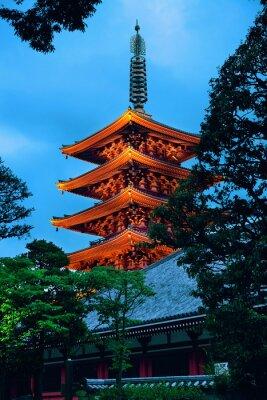 Sticker Temple de Tokyo