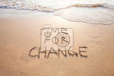 Sticker Temps de changement, concept de changement de vie et amélioration