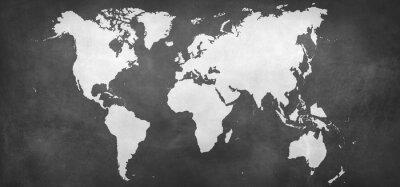 Sticker Terre, carte, fond
