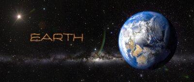 Sticker Terre dans l'espace.
