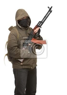 Terroriste avec arme
