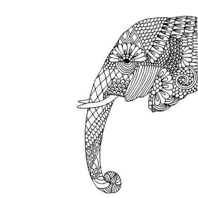 Sticker Tête d'éléphant