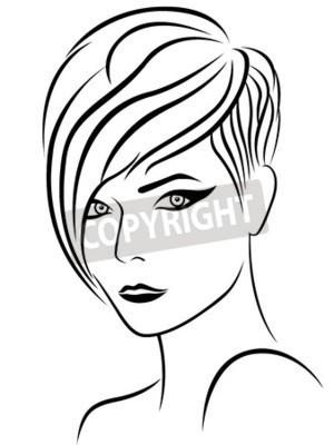 Coiffure Femme Dessin Coupe De Cheveux A La Mode