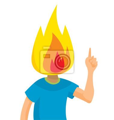 Le véritable sens des synchronicités Tete-de-feu-stressee-400-111773356
