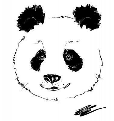 Sticker tête de panda
