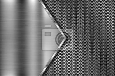 Sticker Texture 3d en métal perforé avec triangle en fer brossé
