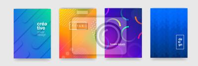 Sticker Texture de fond abstrait motif géométrique qui coule pour la conception de la couverture affiche. Modèle de bannière de dégradé de couleur minimale. Forme d'onde vectorielle moderne pour brichure