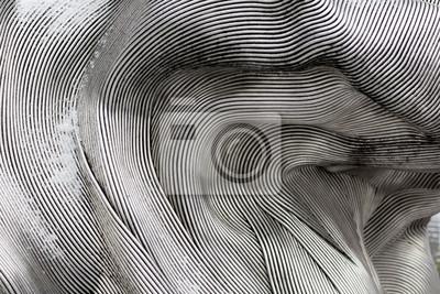 Sticker Texture de fond de la surface métallique brillante. La plaque incurvée est en fer.