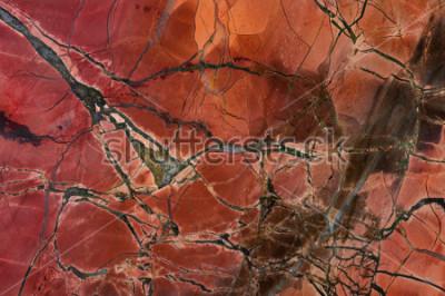 Sticker Texture de jaspe rouge, agrandi. Minéral naturel