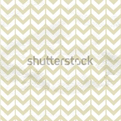 Sticker Texture fine sans couture chevron beige vintage sur papier grange