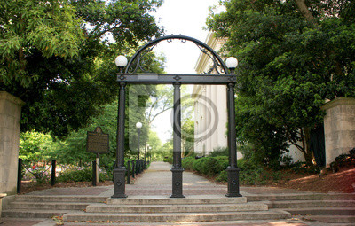 Sticker The Arch at the entrance of North Campus at UGA.