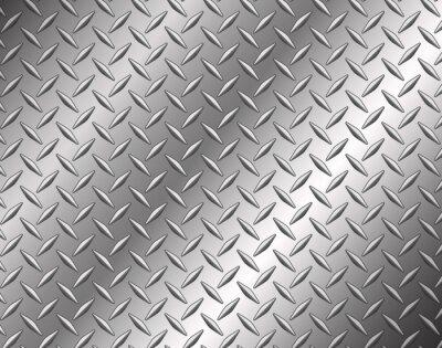 Sticker The diamond steel metal texture background