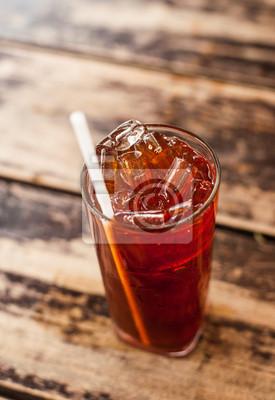 Thé frais froid avec de la chaux