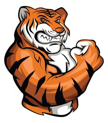 Sticker Tiger Mascot