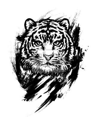Tigre du Bengale. Dessin graphique