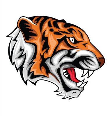 Sticker tigre rugissement