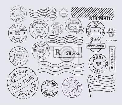 Sticker timbre-poste