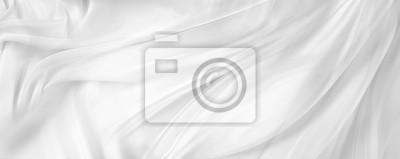 Sticker Tissu de soie blanche