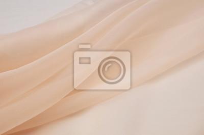 Sticker Tissu en soie, l'organza est beige clair.