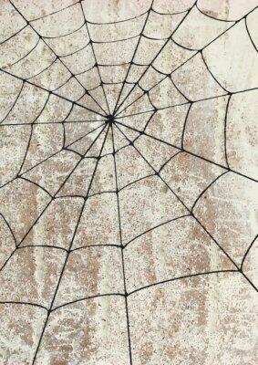 Sticker Toile surd'araignée un mur. art de rue