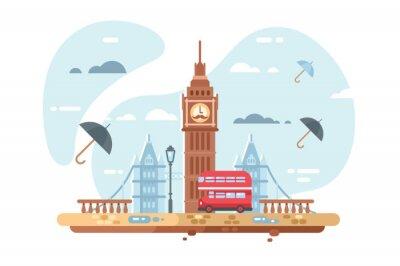 Sticker Toits de la ville de Londres