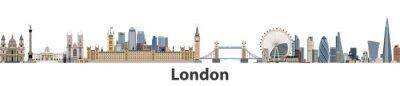 Sticker Toits de la ville de Londres vector