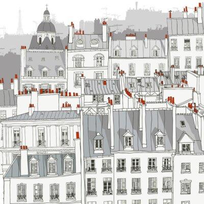 Sticker Toits de Paris