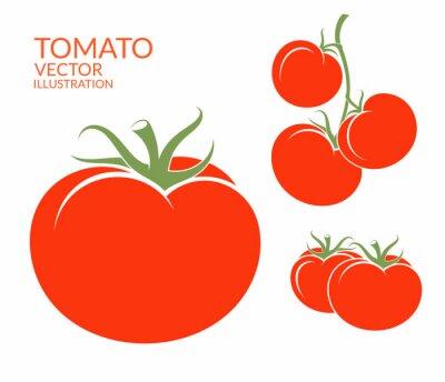 Sticker Tomate. Légumes isolés sur fond blanc