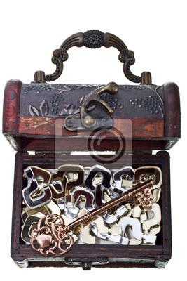 Touche à toutes les questions dans un coffre au trésor