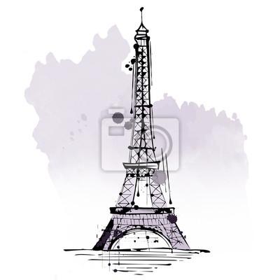 Sticker Tour Eiffel, l'attraction touristique, Paris, France