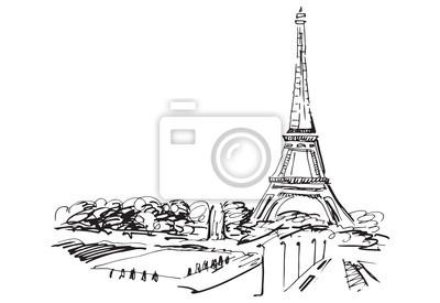 Sticker Tour Eiffel. Paris, France.