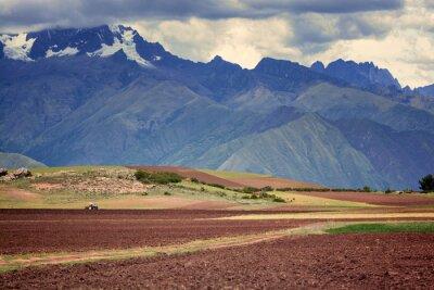 Sticker Tracteur dans le domaine, Cuzco, Pérou