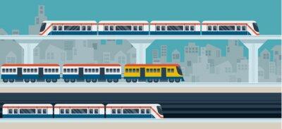 Sticker Train, Sky Train, métro, Illustration Icônes objets