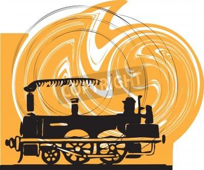 Sticker Train. Vecteur